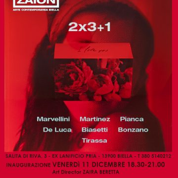 """3×2+1"" da Zaion Arte Contemporanea"